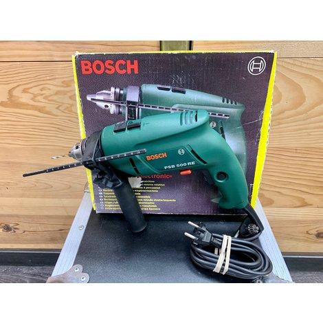 Bosch PSB 500 RE Klopboormachine 500 watt | incl. accessoires en doos