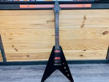 Hudson HVX Night Black | Flying V Elektrische Gitaar | incl. schouderband