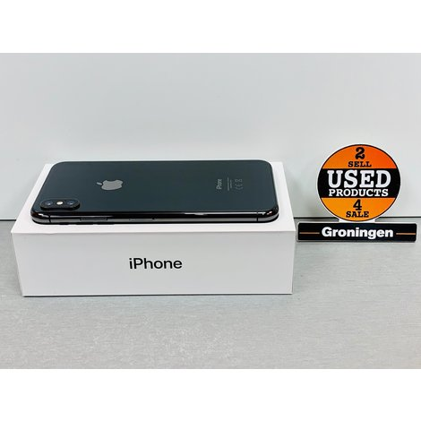 Apple iPhone XS Max 256GB Space Gray | NIEUWSTAAT! | Accu 98% | COMPLEET IN DOOS | incl. nota (09-2018) en Cover