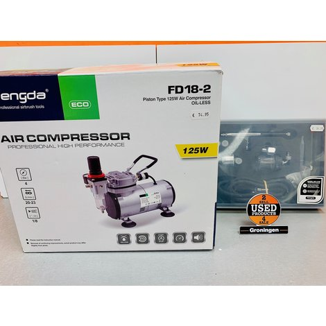 Fengda AS18-2 Mini compressor + Fengda BD-134K Airbrush pistool
