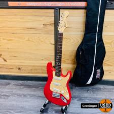 Squier Squier Mini Strat Red reis/kindergitaar | incl. gitaartas