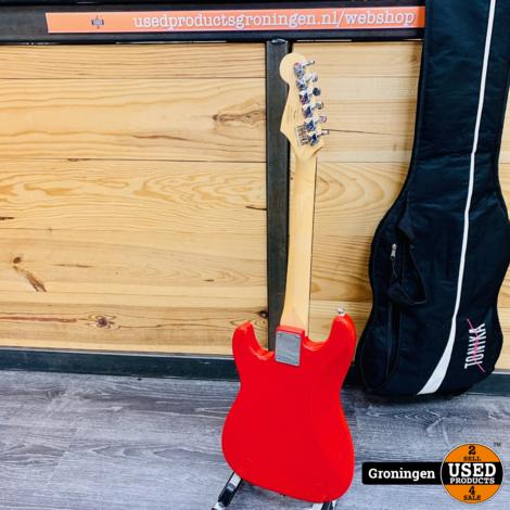 Squier Mini Strat Red reis/kindergitaar | incl. gitaartas