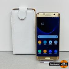 Samsung Samsung Galaxy S7 Edge G935 Gold   schermschade   incl. FlipCover