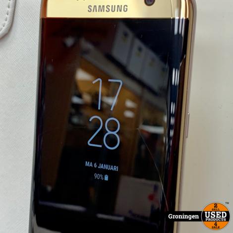 Samsung Galaxy S7 Edge G935 Gold   schermschade   incl. FlipCover