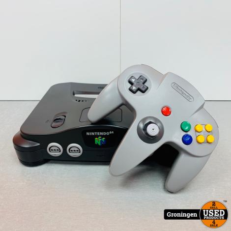 [N64] Nintendo 64   incl. Controller met NUS-004 Controller Pack en kabels