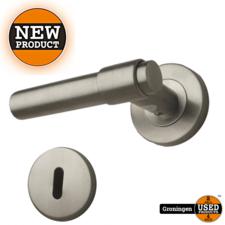 Solid H007 deurklinkset op rozet 50mm inox | NIEUW
