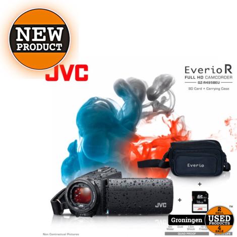 JVC GZ-R495B-KIT Quadproof Camcorder zwart + tas en SD kaart | NIEUW/GESEALD IN DOOS!
