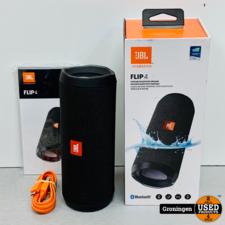 JBL JBL Flip 4 Black | Stereo Bluetooth Speaker | COMPLEET IN DOOS