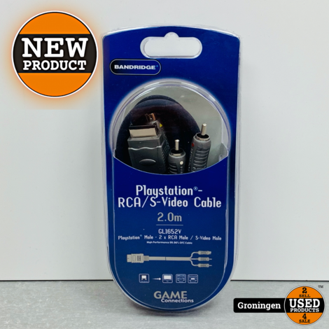 Bandridge GL1652V PlayStation 1,2,3 AV-kabel RCA/S-Video 2mtr NIEUW!