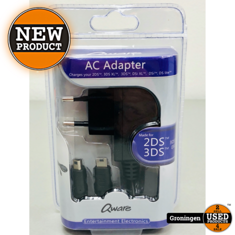 Qware QWDSI3117 3DS/2DS/DS oplader | NIEUW!