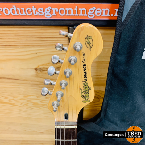 Vintage Advance Series AV6 Stratocaster gitaar + Ritter gitaartas