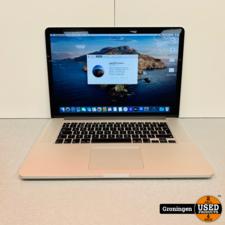 Apple Apple MacBook Pro 15,4 Retina (2015) | Core i7 2,2GHz | 256GB SSD | 16GB RAM | schermcoating beschadigd | incl. Sleeve en adapter
