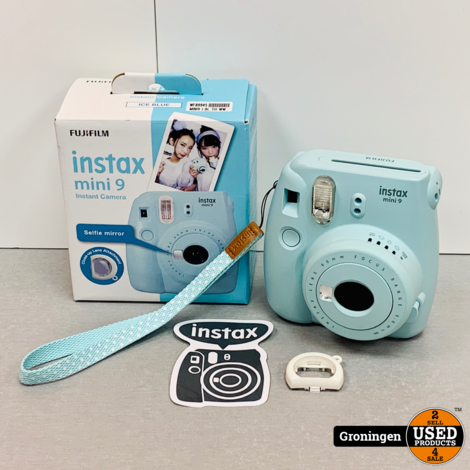 Fujifilm Instax Mini 9 Ice Blue | Polaroidcamera | incl. accessoires en doos