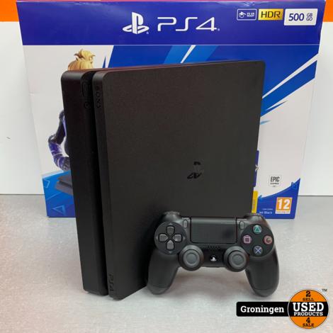 [PS4] Sony PlayStation 4 Slim 500GB Zwart | COMPLEET IN DOOS | nota (20-08-19)