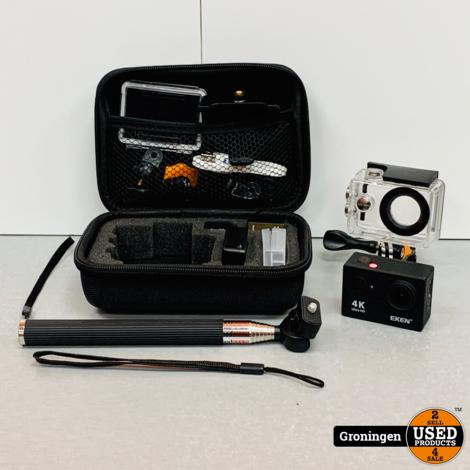Eken H9R Action Camera 4K | incl. 32GB SD, 2x accu, lader, accessoires en case