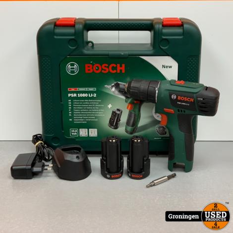 Bosch PSR 1080 LI-2 Accuboormachine 10,8 V | incl. 2 accu's, lader en koffer