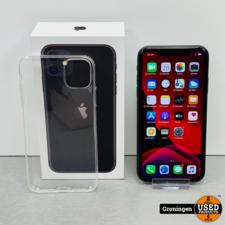 Apple Apple iPhone 11 64GB Black | NIEUWSTAAT! COMPLEET IN DOOS | incl. Cover en nota (20-02-2020)