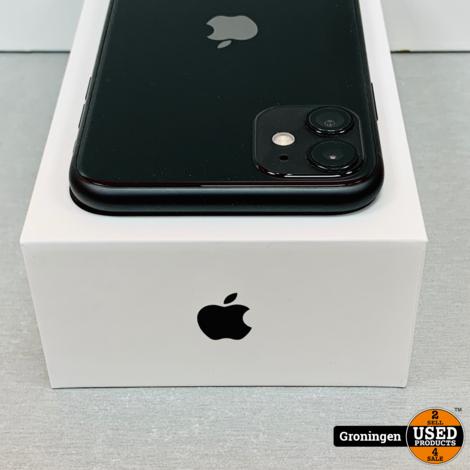 Apple iPhone 11 64GB Black | NIEUWSTAAT! COMPLEET IN DOOS | incl. Cover en nota (20-02-2020)