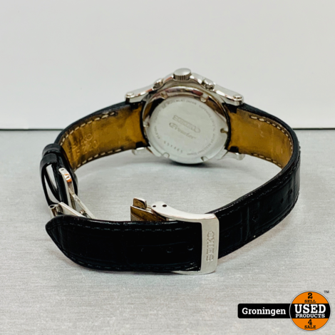 Seiko Premier Chronograph 7T62-0FF0 | 38 mm - Quartz | bandje incompleet