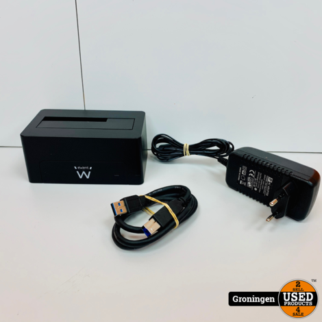 Ewent EW7012 USB 3.1 HDD Docking Station | incl. USB-kabel en adapter