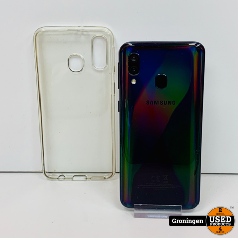 Samsung Galaxy A40 Black 64GB Dual-SIM | incl. Cover en lader