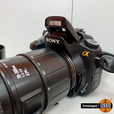 Sony A350 DSLR + Sigma 70-300 f/4-5.6 DL | incl. 2GB CF, Zonnekap en lader