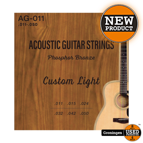 CLXmusic AG-011 Phosphor Bronze gitaarsnaren western/folk gitaar .011-.050 | NIEUW