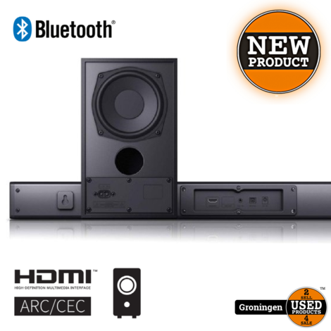 Sharp HT-SBW182 2.1 Slim Soundbar met draadloze subwoofer | HDMI, Bluetooth, AUX, Toslink | NIEUW