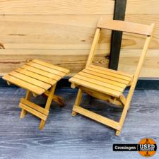 Houten klapstoel en tafel | Mini