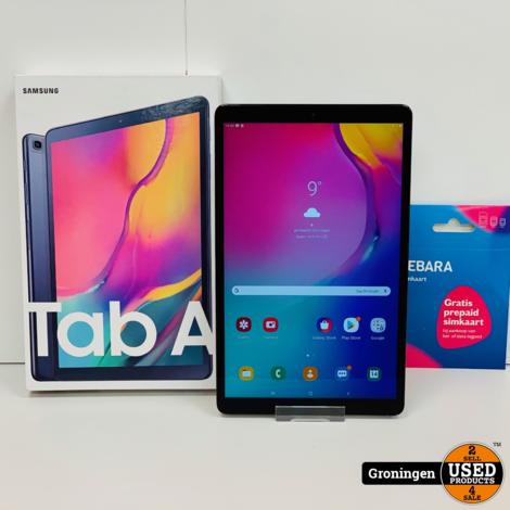 Samsung Galaxy Tab A 10.1 (2019) T515 32GB 4G-SIM Black | NIEUWSTAAT! COMPLEET IN DOOS