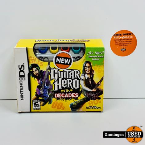 [DS] Guitar Hero On Tour Decades + Guitar Grip NIEUW