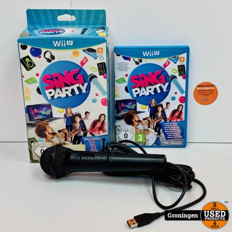 [Wii U] Sing Party + Microfoon   ALS NIEUW!