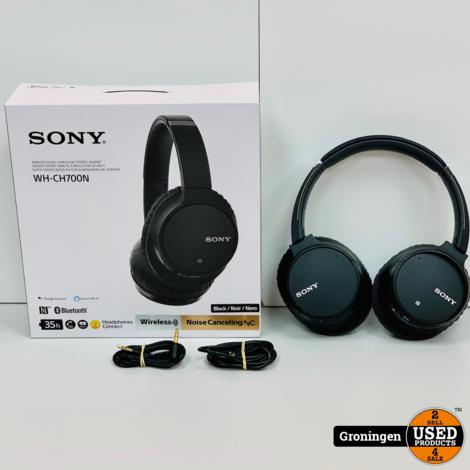 Sony WH-CH700N Noise Cancelling Bluetooth hoofdtelefoon Zwart | NIEUWSTAAT! COMPLEET IN DOOS