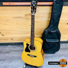 Ibanez Ibanez V72LECE-NT Elektrisch-Akoestische Westerngitaar Naturel | Linkshandig | NETTE STAAT! incl. Tobago gitaartas en accessoires