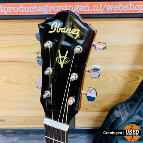 Ibanez V72LECE-NT Elektrisch-Akoestische Westerngitaar Naturel | Linkshandig | NETTE STAAT! incl. Tobago gitaartas en accessoires