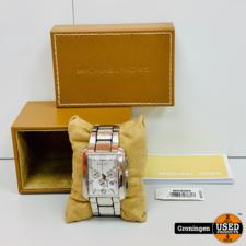 Michael Kors Michael Kors MK8084 Chronograaf horloge Zilver | incl. boekjes en doos