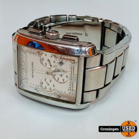 Michael Kors MK8084 Chronograaf horloge Zilver | incl. boekjes en doos