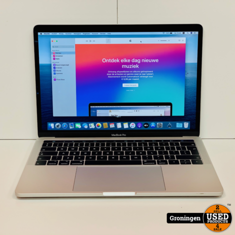 Apple MacBook Pro 13'' 2019 Touch Bar MUHQ2N/A Zilver | 83 Cycli! | Core i5 Quad 1.4GHz | 8GB | 128GB | incl. MagSafe-adapter en nota (26-12-2019)