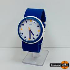 Swatch Swatch Originals POPINESS horloge Ø45mm blauw/wit | SR396SW PNW103
