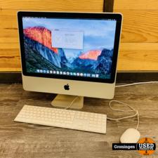 Apple Apple iMac 20'' 2008 | Core 2 Duo @ 2,4GHz | 4GB RAM | 250GB | AMD HD2400XT | OS X El Capitan 10.11.6 | incl. toetsenbord en muis