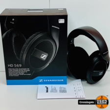 Sennheiser Sennheiser HD 569 Over-ear koptelefoon   NIEUWSTAAT! COMPLEET IN DOOS   nota (19-06-2020)