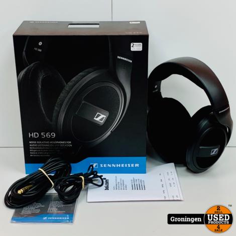 Sennheiser HD 569 Over-ear koptelefoon   NIEUWSTAAT! COMPLEET IN DOOS   nota (19-06-2020)