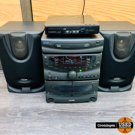Philips FW630/22 Stereo-set | Radio & AUX | incl. Q.Media CD/DVD-speler