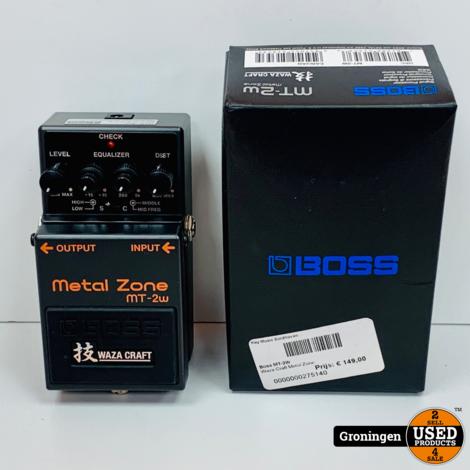 Boss MT-2W Metal Zone Waza Craft distortion-pedaal | COMPLEET IN DOOS