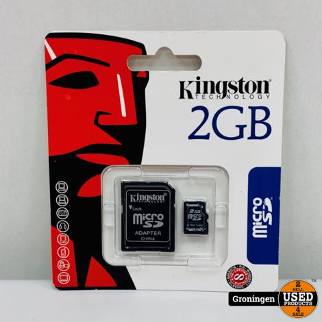 Kingston 2GB Micro SD + adapter | NIEUW
