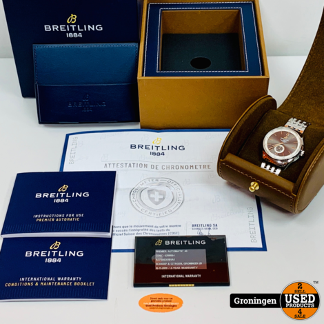 Breitling Horloge Premier Collection 40mm A37340351B1A1   COMPLEET IN DOOS   incl. garantie-kaart (16-11-19)