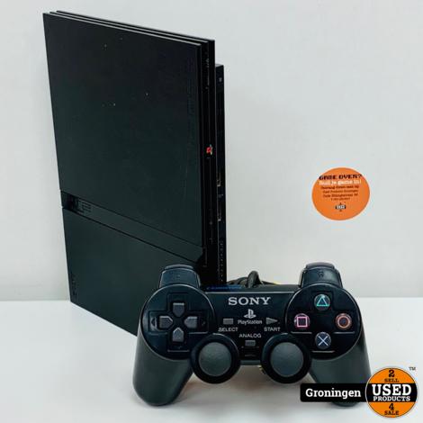 [PS2] Sony PlayStation 2 Slim SCPH-75004   incl. Sony DualShock 2 controller en kabels