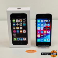 Apple Apple iPhone 5S 16GB Space Gray ME432DN/A | NIEUWE ACCU | iOS 12.4.8 | COMPLEET IN DOOS