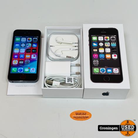 Apple iPhone 5S 16GB Space Gray ME432DN/A | NIEUWE ACCU | iOS 12.4.8 | COMPLEET IN DOOS