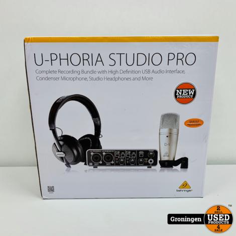 Behringer U-Phoria Studio Pro opnamebundel | NIEUW IN DOOS!